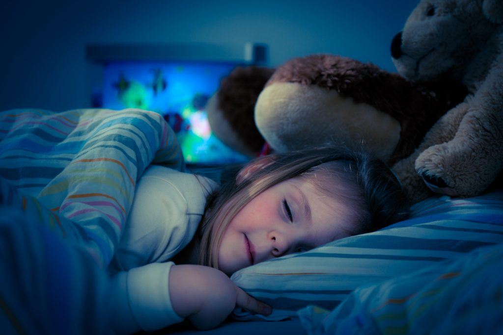 little girl sleeping
